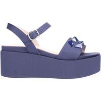 Schuhe Damen Sandalen / Sandaletten Jeannot - Sandalo blu tessuto 35223 Multicolore