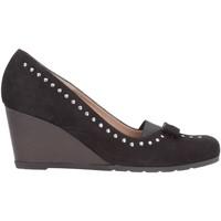 Schuhe Damen Pumps Melluso - Decollete nero renna taipei zeppa 5 cm Y5036 Multicolore