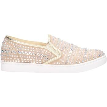 Schuhe Damen Slip on Albano - Slip on beige camoscio 6856 Multicolore