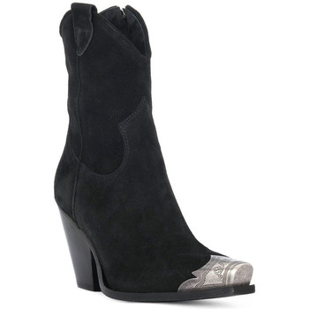 Schuhe Damen Low Boots Priv Lab TEXANO NERO Nero