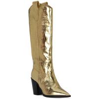 Schuhe Damen Klassische Stiefel Priv Lab COCCO ORO Beige