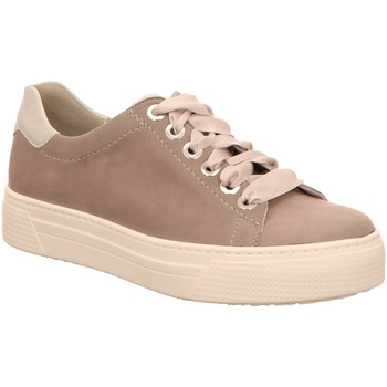 Schuhe Damen Sneaker Low Semler Schnuerschuhe SAMT-CHEV./MET-LAMM A5015773/896 weiß