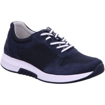 Schuhe Damen Sneaker Low Rollingsoft By Gabor Schnuerschuhe 46.946.46 blau
