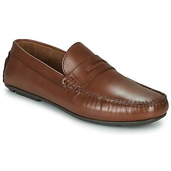 Schuhe Herren Slipper André SLOTI Cognac