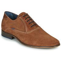 Schuhe Herren Richelieu André WALACE Cognac