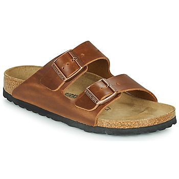 Schuhe Pantoffel Birkenstock ARIZONA LEATHER Braun