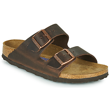 Schuhe Damen Pantoffel Birkenstock ARIZONA SFB LEATHER Braun