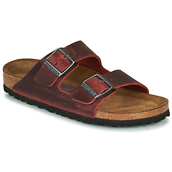 Schuhe Damen Pantoffel Birkenstock ARIZONA SFB LEATHER Bordeaux