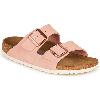 Schuhe Damen Pantoffel Birkenstock ARIZONA SFB LEATHER Rose