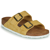 Schuhe Damen Pantoffel Birkenstock ARIZONA SFB LEATHER Senf
