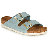 Schuhe Damen Pantoffel Birkenstock ARIZONA SFB LEATHER Blau