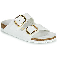 Schuhe Damen Pantoffel Birkenstock ARIZONA BIG BUCKLE Weiss / Gold