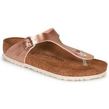 Schuhe Damen Zehensandalen Birkenstock GIZEH Rose / Gold