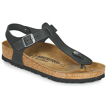 Schuhe Damen Sandalen / Sandaletten Birkenstock KAIRO LEATHER Schwarz