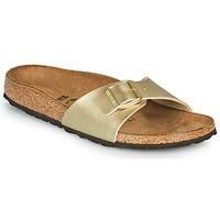 Schuhe Damen Pantoffel Birkenstock MADRID Gold / Gold