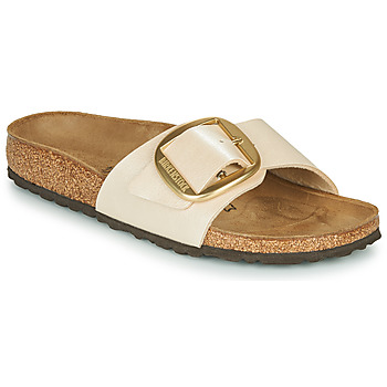Schuhe Damen Pantoffel Birkenstock MADRID BIG BUCKLE Perle / Weiss