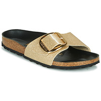Schuhe Damen Pantoffel Birkenstock MADRID BIG BUCKLE Gold