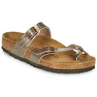Schuhe Damen Pantoffel Birkenstock MAYARI Bronze