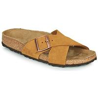 Schuhe Damen Pantoffel Birkenstock SIENA LEATHER Camel