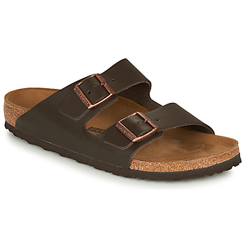 Schuhe Herren Pantoffel Birkenstock ARIZONA LEATHER Braun