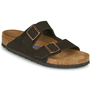 Schuhe Herren Pantoffel Birkenstock ARIZONA SFB LEATHER Braun
