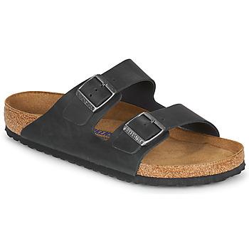 Schuhe Herren Pantoffel Birkenstock ARIZONA SFB Schwarz