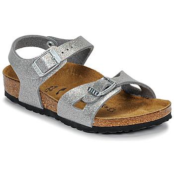 Schuhe Mädchen Sandalen / Sandaletten Birkenstock RIO Glitterfarbe / Silber