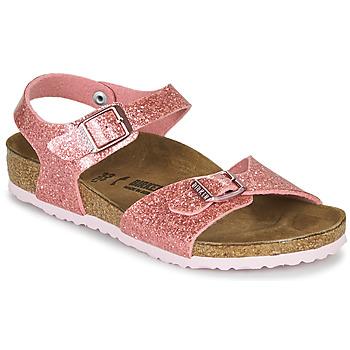 Schuhe Mädchen Sandalen / Sandaletten Birkenstock RIO PLAIN Cosmic / Rose