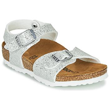 Schuhe Mädchen Sandalen / Sandaletten Birkenstock RIO PLAIN Weiss