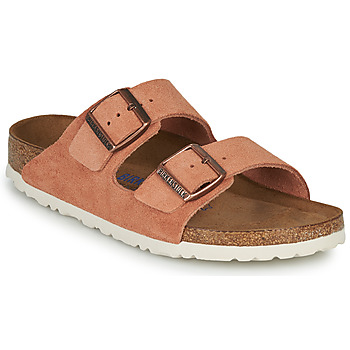 Schuhe Damen Pantoffel Birkenstock ARIZONA SFB LEATHER Orange