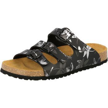 Schuhe Damen Pantoffel Lico Bioline leave schwarz