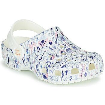 Schuhe Damen Pantoletten / Clogs Crocs LIBERTY LONDON X CLASSIC LIBERTY GRAPHIC CLOG K Weiss