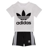 Kleidung Kinder Kleider & Outfits adidas Originals CAROLINE Weiss / Schwarz