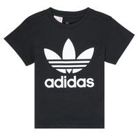 Kleidung Kinder T-Shirts adidas Originals LEILA Schwarz