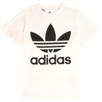 Kleidung Kinder T-Shirts adidas Originals TREFOIL TEE Weiss