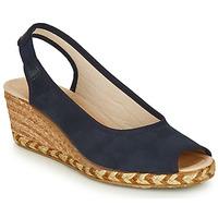 Schuhe Damen Leinen-Pantoletten mit gefloch Damart LORELO Marine