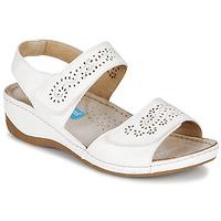 Schuhe Damen Sandalen / Sandaletten Damart MILANA Weiss