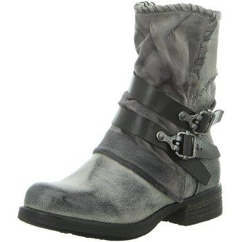 Schuhe Damen Low Boots Laufsteg München Stiefeletten HW190219 ICE grau