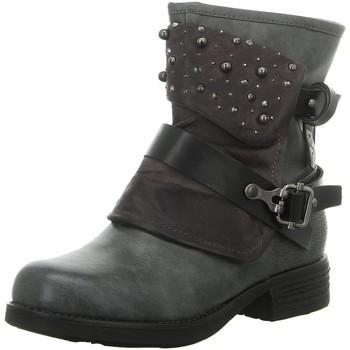 Schuhe Damen Boots Laufsteg München Stiefeletten HW190205 ANTIK GREY grau