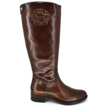 Schuhe Damen Klassische Stiefel Luis Gonzalo 4936M Botas de Montar de Mujer Braun