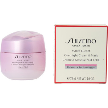Beauty Damen pflegende Körperlotion Shiseido White Lucent Overnight Cream & Mask  75 ml