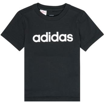 Kleidung Jungen T-Shirts adidas Performance NATAZO Schwarz