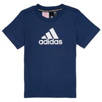 Kleidung Jungen T-Shirts adidas Performance BRIAN Marine