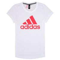 Kleidung Mädchen T-Shirts adidas Performance ELIOTE Weiss