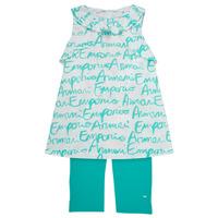 Kleidung Mädchen Kleider & Outfits Emporio Armani Adel Weiss / Blau