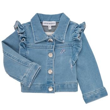 Kleidung Mädchen Jacken / Blazers Emporio Armani Aldric Blau