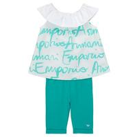 Kleidung Mädchen Kleider & Outfits Emporio Armani Alex Weiss / Blau