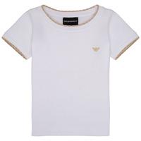 Kleidung Mädchen T-Shirts Emporio Armani Allan Weiss