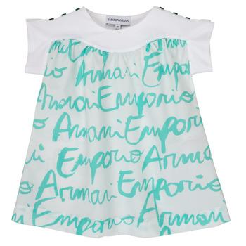 Kleidung Mädchen T-Shirts Emporio Armani Anas Weiss / Blau