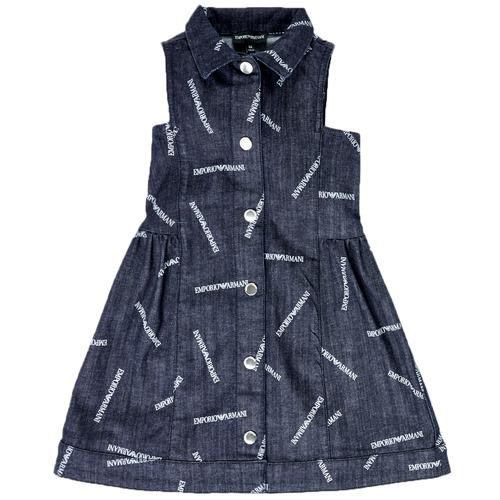 Kleidung Mädchen Kurze Kleider Emporio Armani Andy Blau